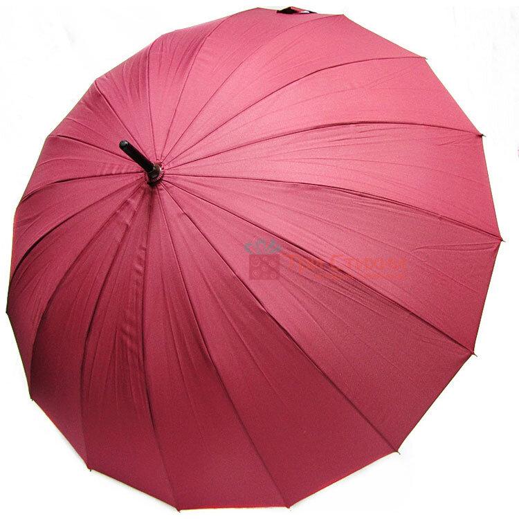 Зонт-трость Doppler London 74163DWR механика Бордо, Цвет: Бордовый, фото