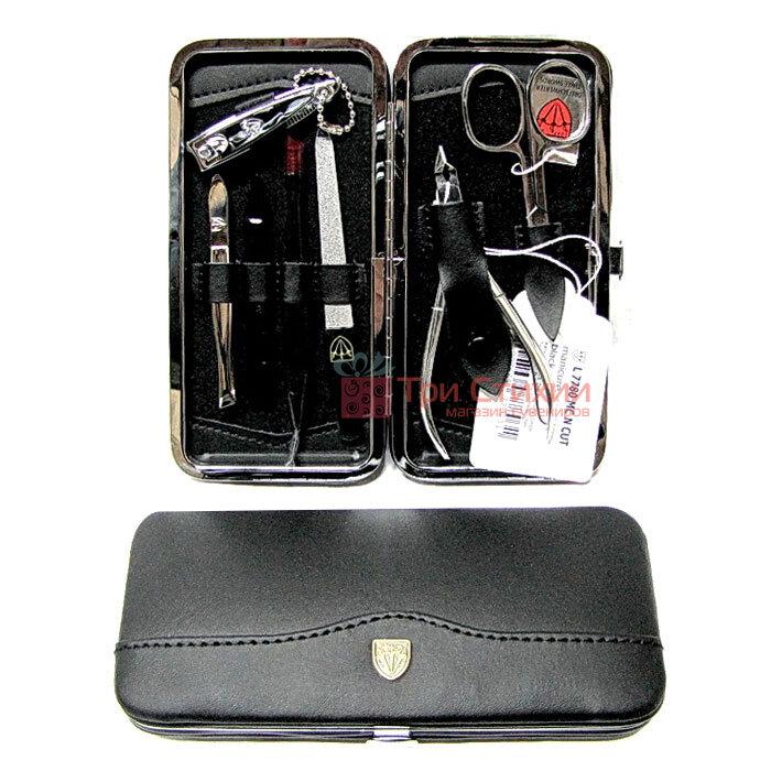 Маникюрный набор Kellermann 7780 Leder (MC N CUT) кожаный Черный, фото