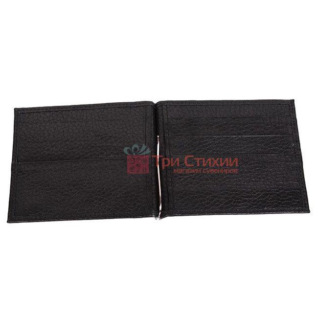 Зажим для денег мужской кожаный Vip Collection 001A flat, фото 3