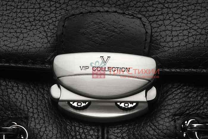 Портфель Vip Collection 1229.A.FLAT шкіряний Чорний, фото 3