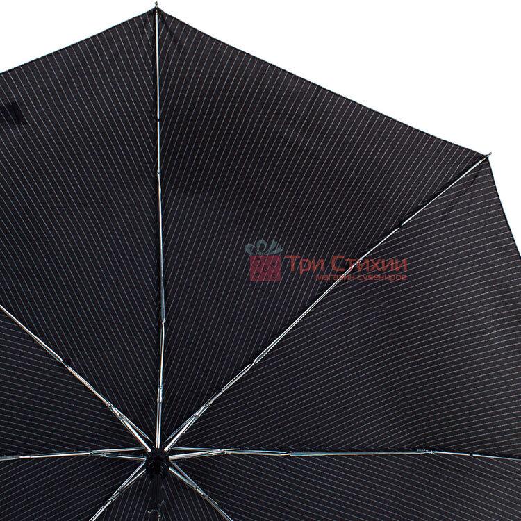 Зонт мужской автомат Derby 7440267P-3 Серый в полоску, фото 3