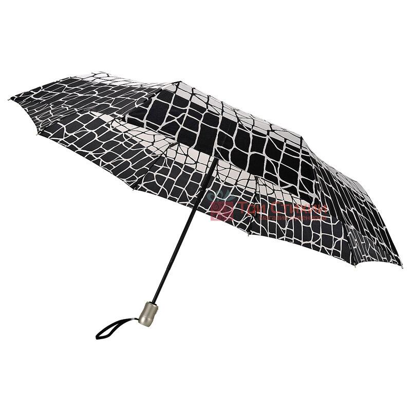 Зонт складной Doppler Satin 74665GFGGZ-6 полный автомат Черно-белый, фото 3