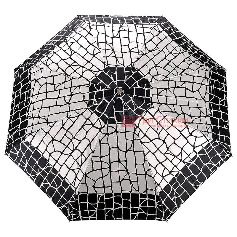 Зонт складной Doppler Satin 74665GFGGZ-6 полный автомат Черно-белый, фото 4