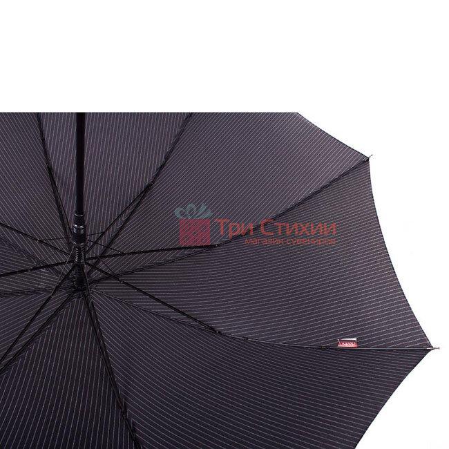 Зонт-трость Derby 77267P-4 полуавтомат Серый в полоску, фото 2