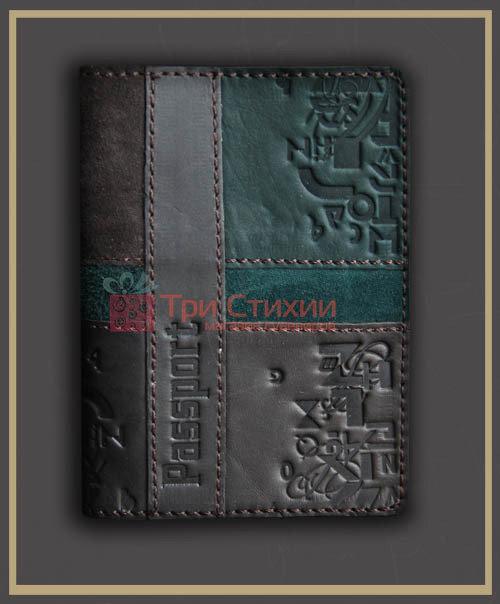 Обложка для паспорта кожаная 809-52-07, фото