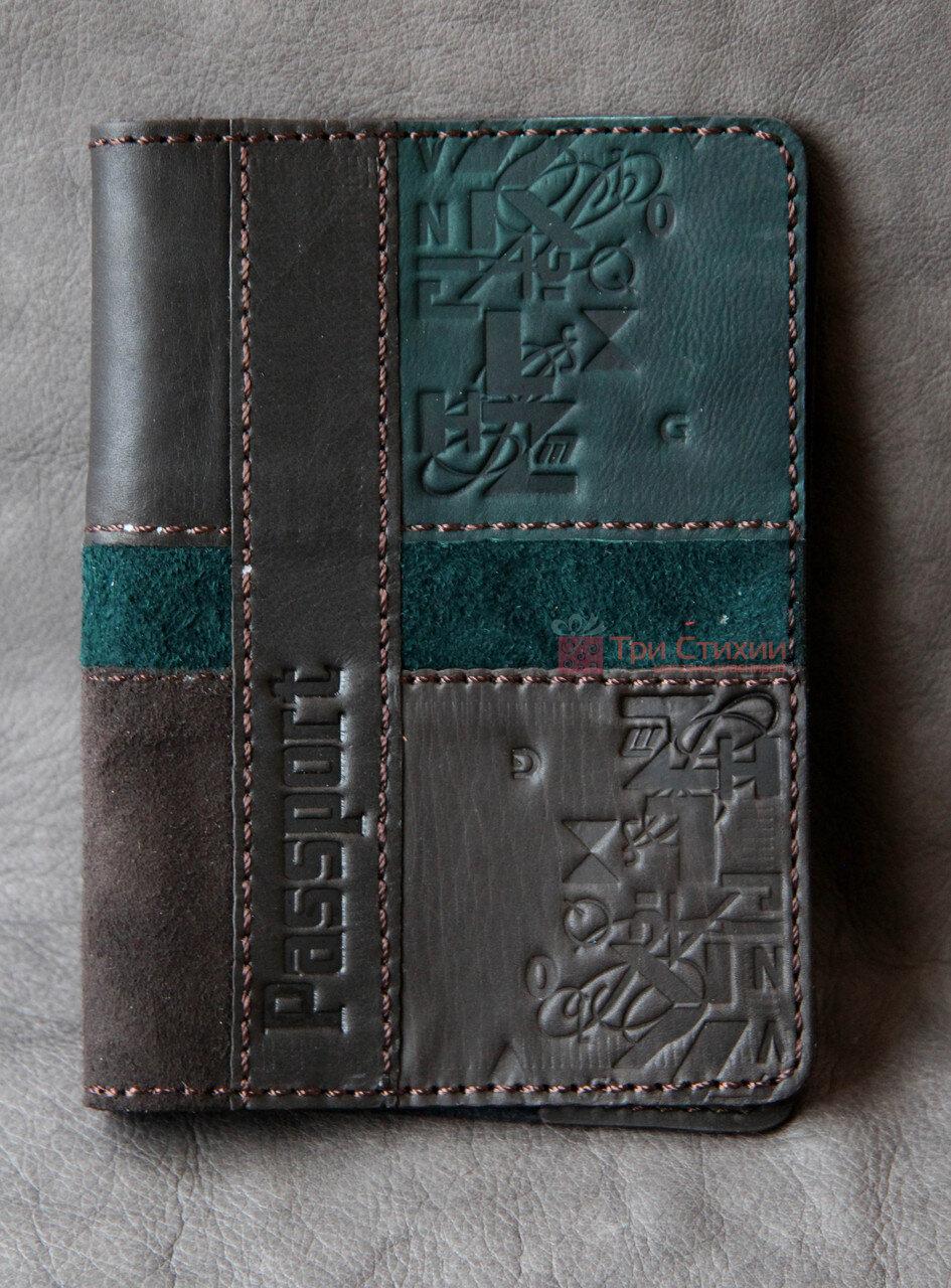 Обложка для паспорта кожаная 809-52-07, фото 2