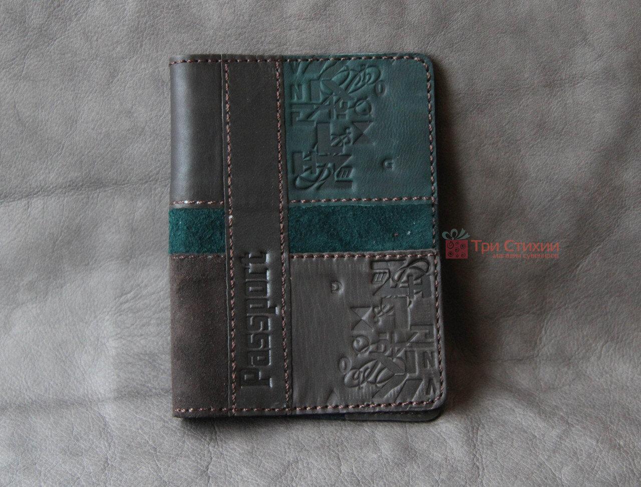 Обложка для паспорта кожаная 809-52-07, фото 3