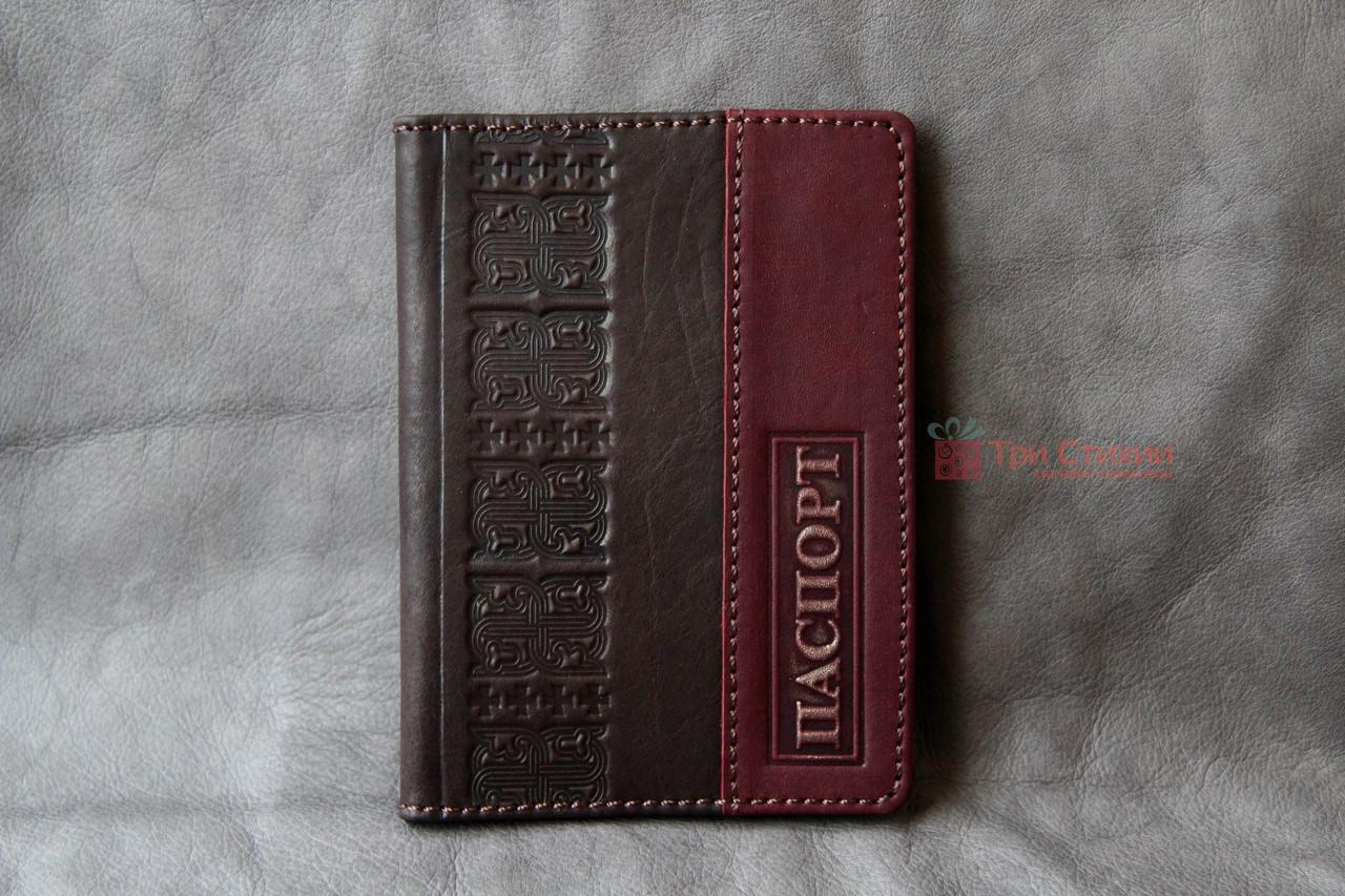 Обложка для паспорта кожаная 809-32-07, фото 2