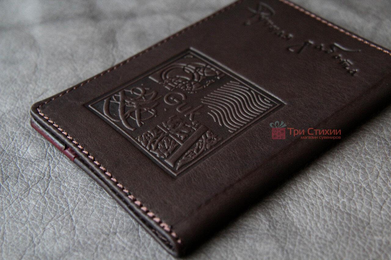 Обложка для паспорта кожаная 809-32-07, фото 3
