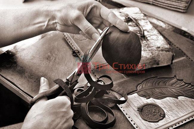 """Шкіряний Щоденник формату А5 """"Перо"""" Макей (508-08-29), фото 3"""