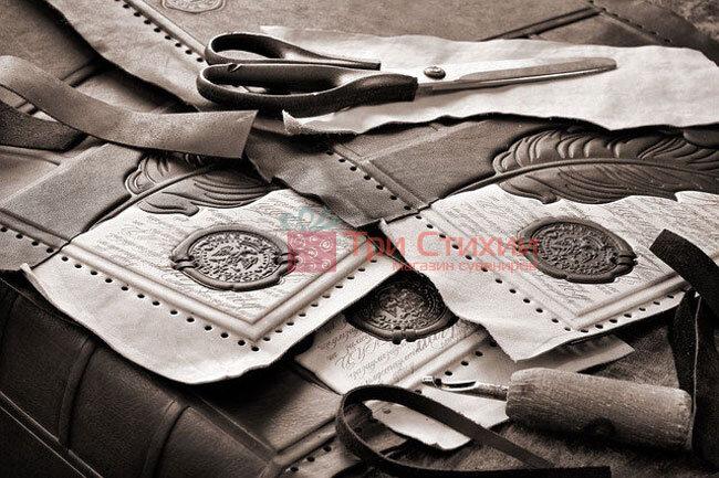 """Шкіряний Щоденник формату А5 """"Перо"""" Макей (508-08-29), фото 5"""
