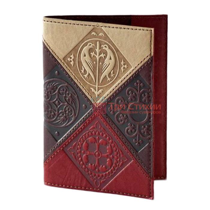 "Обкладинка для паспорта ""Medieval"" (натуральна шкіра) 509-07-06, фото"
