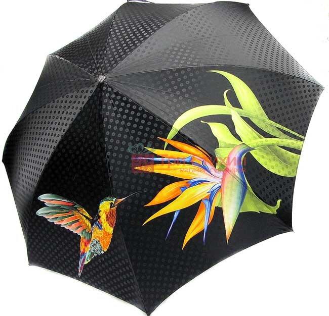 Зонт складной Doppler VIP 34519-1 полный автомат Зеленый колибри, Цвет: Зеленый, фото