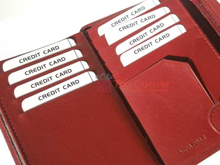 Кошелек Tony Perotti Cortina 5031-Cr rosso Красный, фото 5
