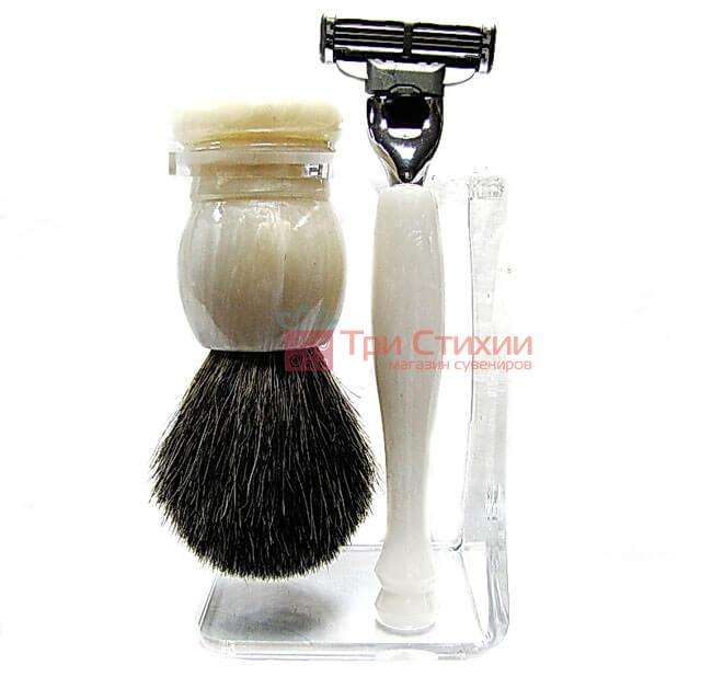 Набор для бритья Hans Baier 75114 Бежевый с белым, Цвет: Белый, фото