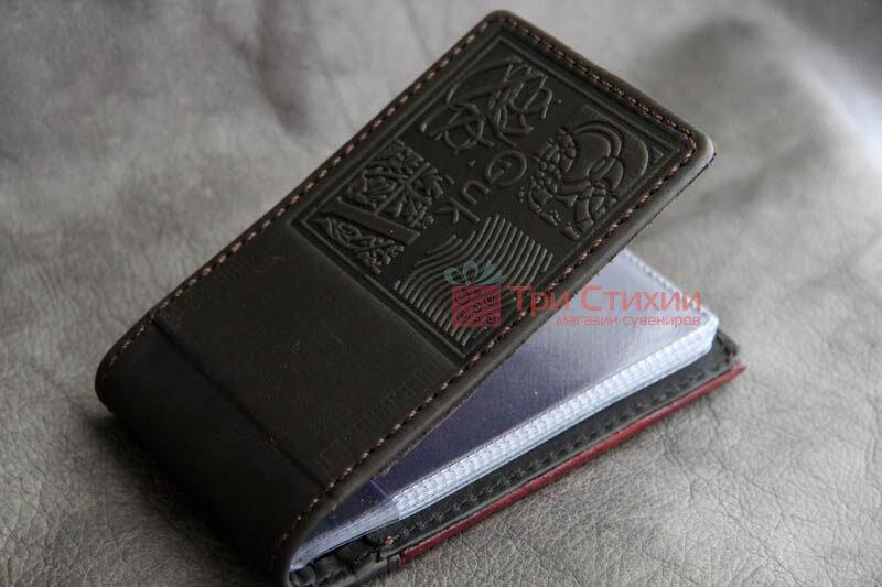 Візитниця Мануфактура Гук шкіряна BUSINESS CARDS (804-06-11), фото 2