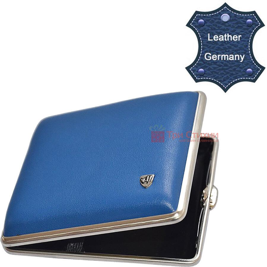 Портсигар VH 901 254 для 18 KS / 24 слім сигарет Синій шкіра Сalypso, Колір: Синій, фото 2