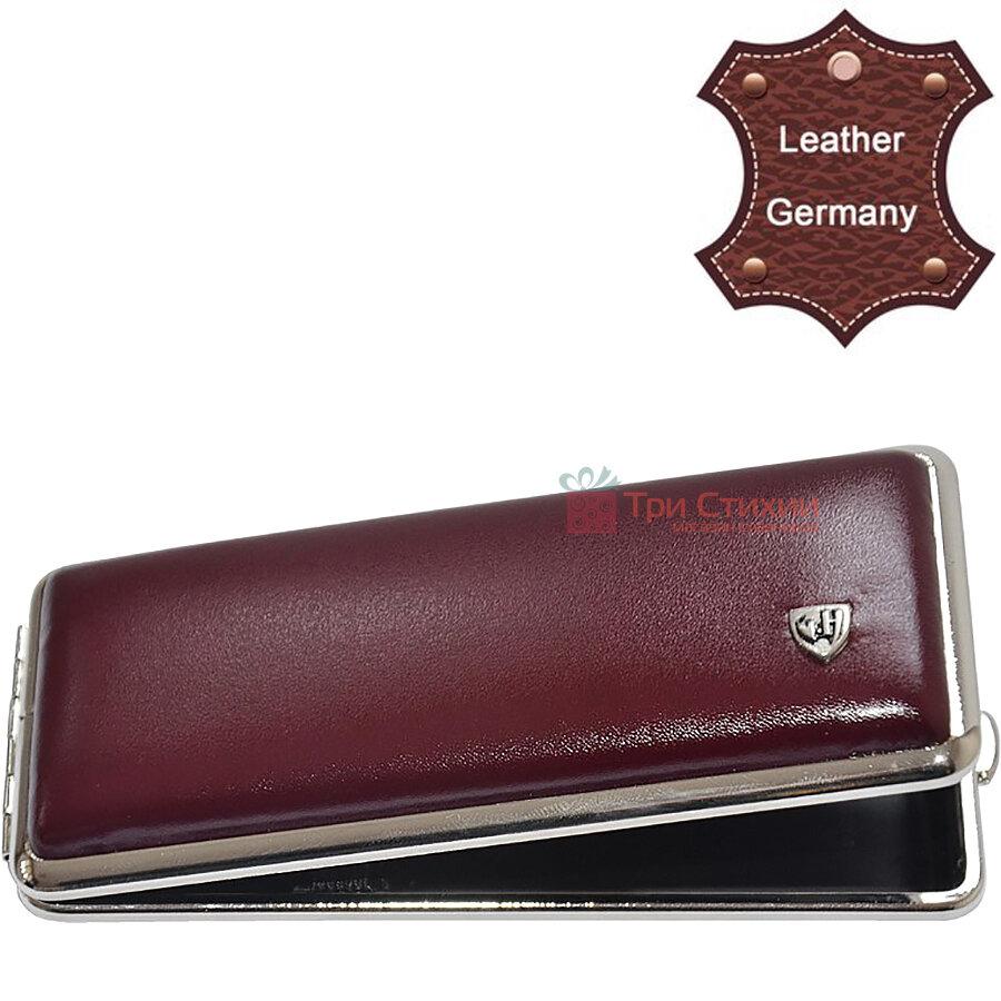 Портсигар VH 904308 для 8 KS/12 слим сигарет кожа Бордовый, Цвет: Бордовый, фото 2