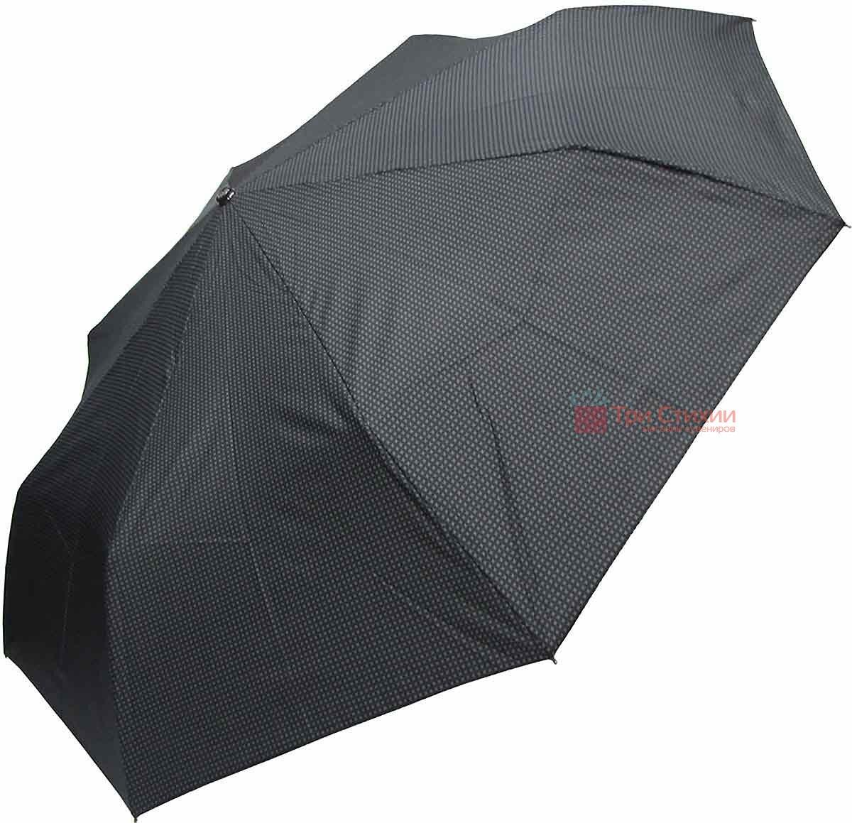 Зонт складной Doppler XM 74367N-1 автомат Черный серо-красная полоска, фото