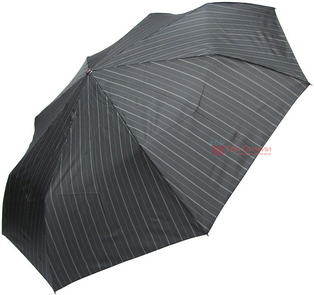Зонт складной Doppler XM 74367N-4 автомат Черный серая полоска, фото