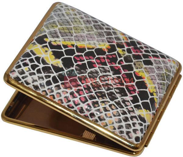 Портсигар VH 901173 для 18 KS сигарет кожаный Кроко, фото