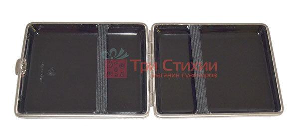 Портсигар VH 901212 для 18 KS сигарет шкіра матова Червоний, фото 2