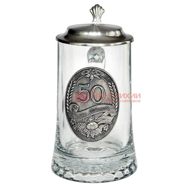 "Кружка пивна Artina SKS Ювілейна ""50"" 500 мл (93346), фото"
