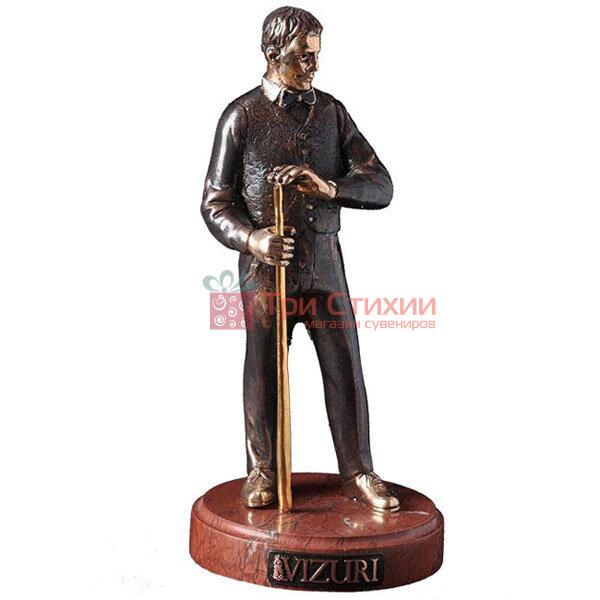 Статуетка з бронзи «Бильярдист» Vizuri (Візурі) H04, фото