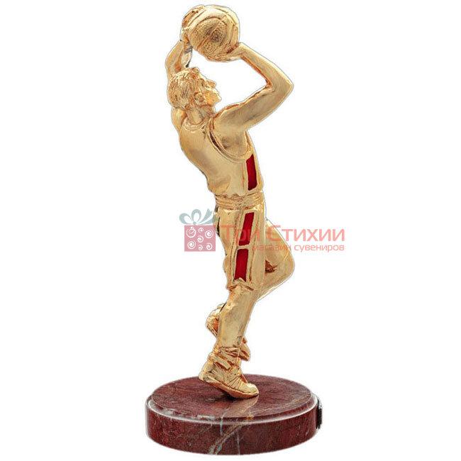 Статуетка з бронзи «Баскетболіст (золотий)» Vizuri (Візурі) S05 / P, фото